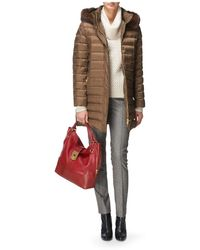Jaeger Padded Jacket with Fur Trim - Lyst