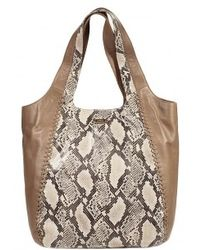 Just Cavalli Leathereco Leather Python Print Bag - Lyst