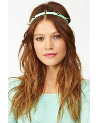 Nasty Gal Metal Spike Headband Mint - Lyst
