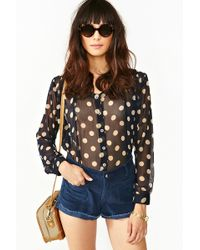 Nasty Gal Double Take Blouse - Lyst
