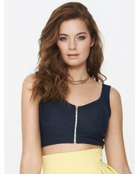 Tfnc Tfnc Cropped Top - Lyst