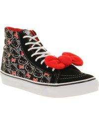 Vans Sk8hi Slim Hello Kitty Black True White - Lyst