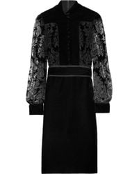 Gucci Devoré Velvet Dress - Lyst