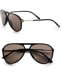 Tom Ford Matteo Acetate Aviator Sunglasses - Lyst