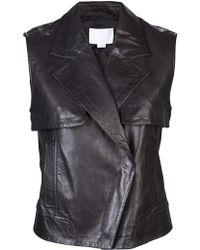 Alexander Wang Leather Vest - Lyst