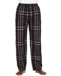 Burberry Check Woven Pajama Pants gray - Lyst