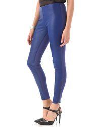Catherine Malandrino - Zip Up Leather Trousers - Lyst