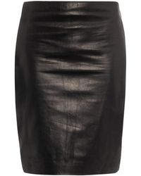Diane Von Furstenberg Clover Leather Skirt - Lyst