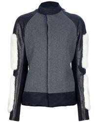 Rick Owens Contrast Sleeve Jacket gray - Lyst
