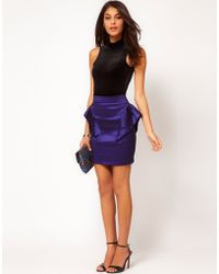 ASOS Collection Asos Mini Skirt with Extreme Hip - Lyst