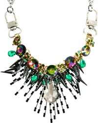 Asos Premium Crystal Shard Burst Necklace - Lyst