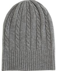 Barneys New York Co-op Cable Knit Beanie - Lyst