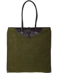 Calabrese Bags - Olive Rotolo Boiled Wool Tote Bag - Lyst