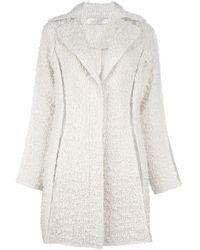 Nina Ricci Midlength Overcoat white - Lyst