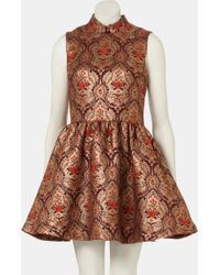Topshop Jacquard Skater Dress - Lyst