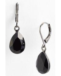 Cara Accessories Teardrop Earrings black - Lyst
