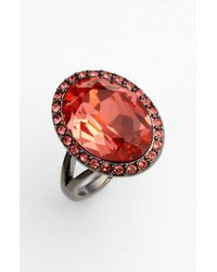 Givenchy Rock Crystal Cocktail Ring red - Lyst