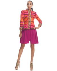 Matthew Williamson Taj Tapestry Fully Embroidered Nehru Fitted Jacket - Lyst