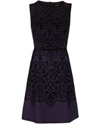 Oasis Flocked Gothic Dress - Lyst