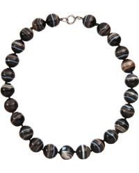 Olivia Collings - Banded Agate Bead Necklace - Lyst