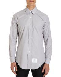 Thom Browne Micro Check Dress Shirt - Lyst