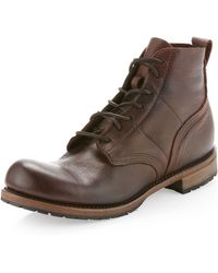 Vintage Shoe Company - Frederic Laceup Boot Chocolate - Lyst