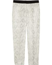 By Malene Birger Gaudonsa Cropped Metallic Lace Pants - Lyst