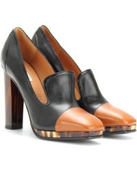 Dries Van Noten Leather Platform Pumps - Lyst