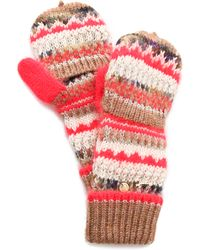 Juicy Couture - Mixed Yarn Pop Top Gloves - Lyst
