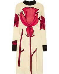 Marni Printed Silk-Blend Crepe Dress - Lyst