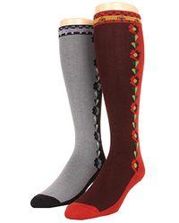 Anna Sui - Split Side Daisies Knee Socks 2pack - Lyst
