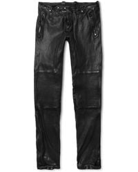 Belstaff Telford Slimfit Leather Biker Trousers - Lyst