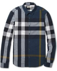 Burberry Brit - Large Plaid Brushed Cotton Shirt - Lyst