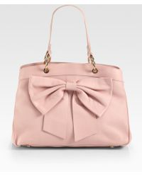 RED Valentino Structured Bow Tote - Lyst
