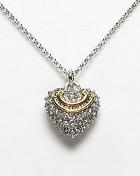 Juicy Couture - Pave Heart Wish Necklace 15l - Lyst