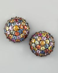 M.c.l  Matthew Campbell Laurenza - Pave Sapphire Stud Earrings - Lyst