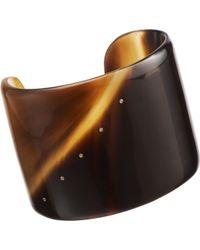 Monique Péan - Dark Buffalo Horn Cuff with Diamonds - Lyst