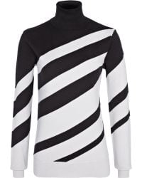 Reiss Striped Polo Neck Jumper - Lyst