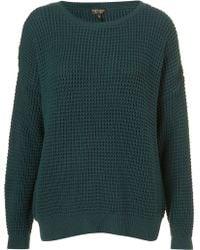 Topshop Knitted Textured Grunge Jumper - Lyst