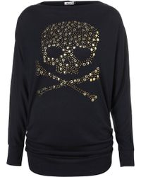 Topshop Skull Top By Wal G - Lyst