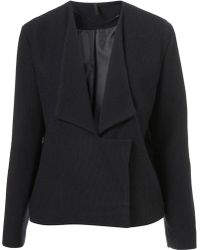Topshop Slouch Ribbed Biker Jacket By Boutique blue - Lyst