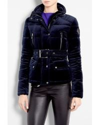 Belstaff Ink Bayard Techno Velvet Down Filled Puffer Jacket - Lyst