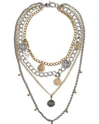 D&G Silver Necklace - Lyst