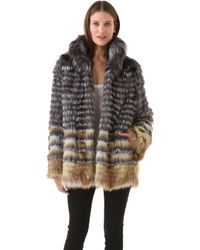 Joy Cioci Cara Fur Coat - Lyst