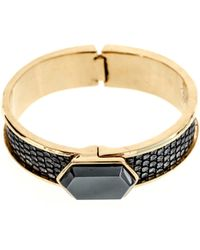Kara By Kara Ross Lizard and Hematite Cuff - Lyst