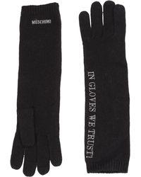 Moschino Gloves black - Lyst