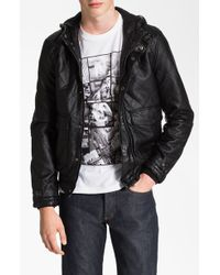 Topman Quilted Hooded Bomber Jacket black - Lyst
