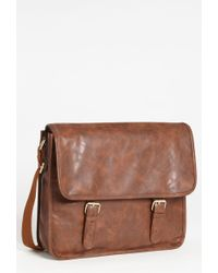 Topman Walker Satchel brown - Lyst
