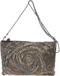 Valentino Medium Leather Bag gold - Lyst