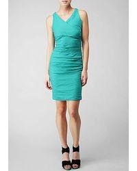 Nicole Miller Cotton Stretch Metal Dress - Lyst